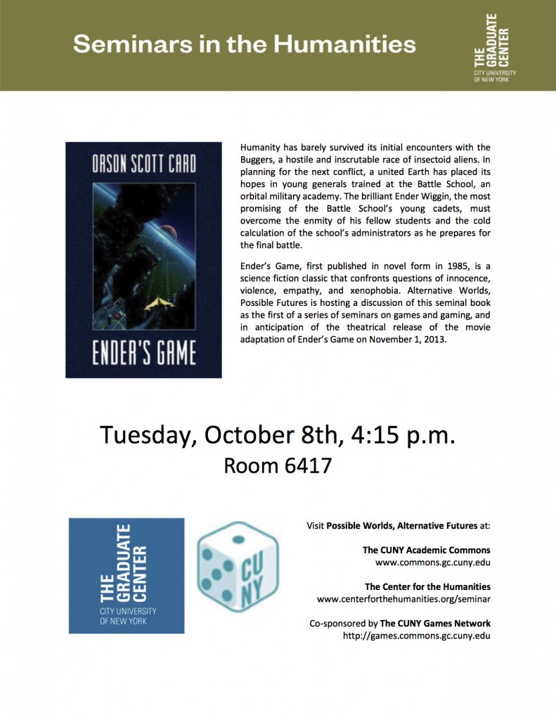 Center for Humanities Flyer