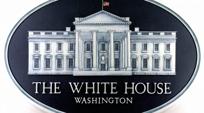 The official emblem of the White House Press Room.